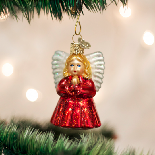 old world christmas baby angel glass ornament - Merck Family Old World Christmas