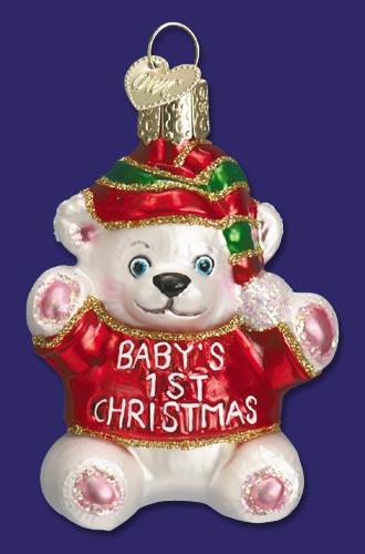 Old World Christmas Babys 1st Christmas Ornament