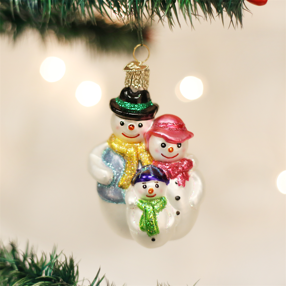 Religious Christmas Ornaments Religious Christmas: Old World Christmas® Snow Family Ornament: Faithful