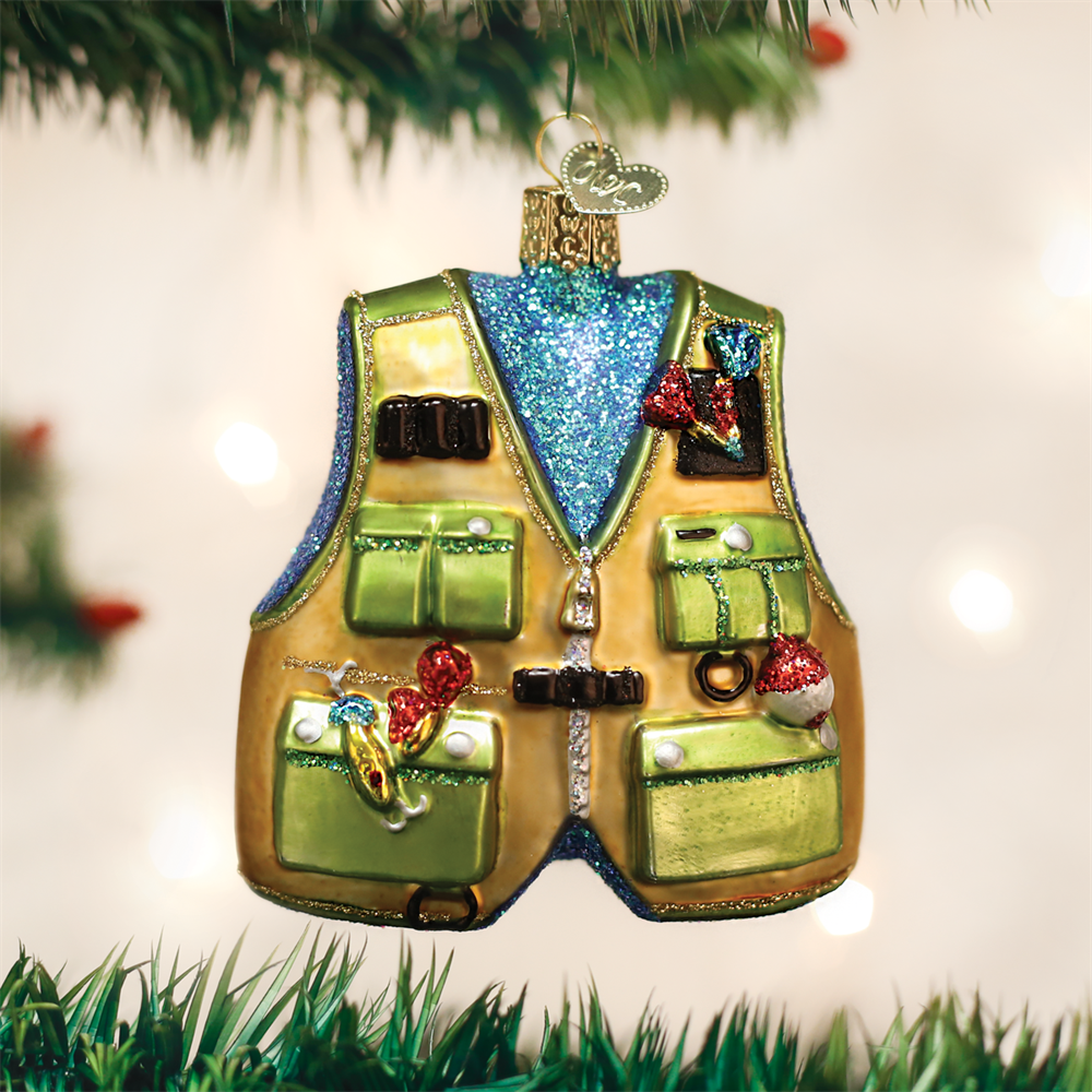 Old World Christmas® Fishing Vest Ornament