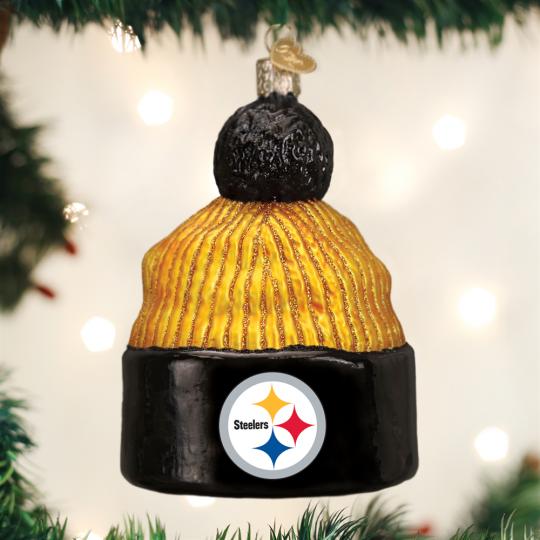 Old World Christmas® Pittsburgh Steelers NFL Football Beanie Ornament 38c18605480b